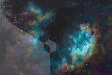 Imagined Nebula by Loz Atkinson