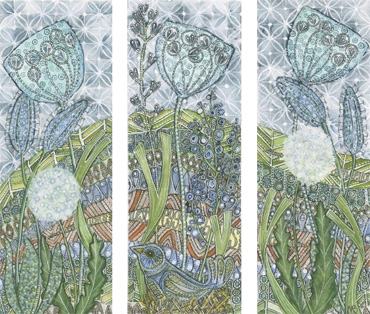 Thumbnail image of Bird on a Nest (triptych) by Maria Boyd