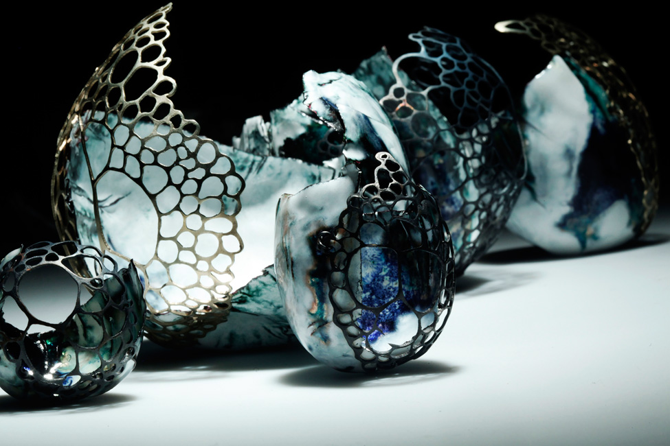 Enamelled Vessels 1 by Natasha Burns