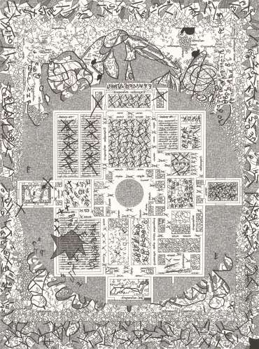 Thumbnail image of The Fictional Museum of Drawing Floor Plan #1 by Phil Sawdon