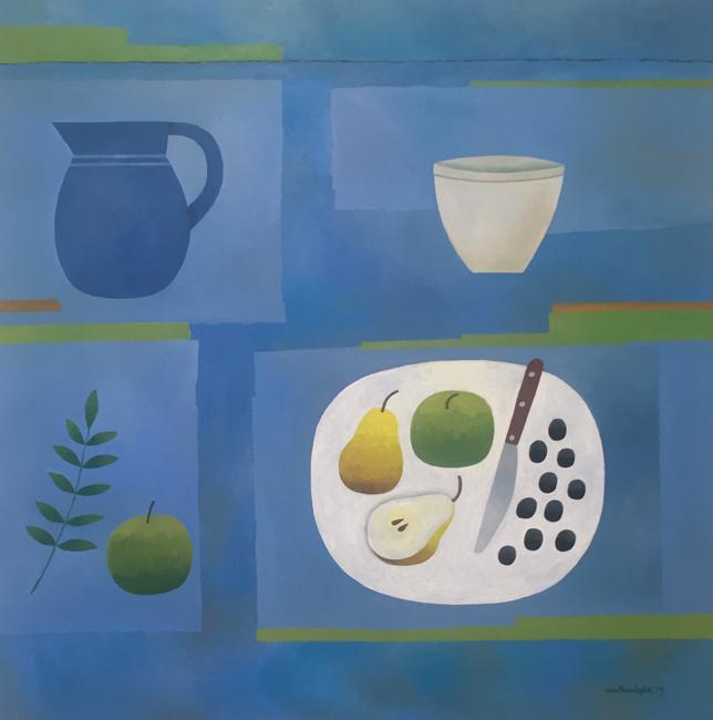Blue Still Life by Reg Cartwright
