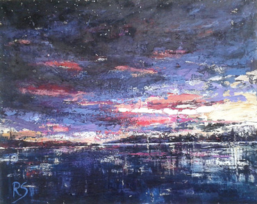 Thumbnail image of Night Sky over Water by Rita Sadler