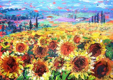 Thumbnail image of Tuscan Sunflowers by Rita Sadler