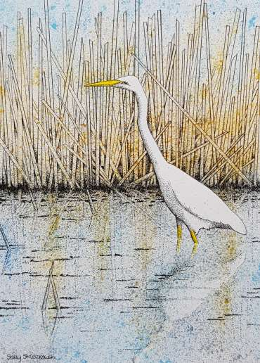 Thumbnail image of Egret in the Reeds by Sally Struszkowski