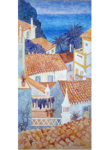 Algarve Rooftops by Shirley Easton