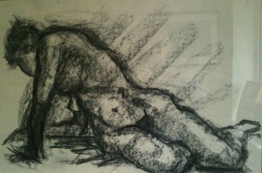 Thumbnail image of 'A' stretching, 1984 by Steve Wenham