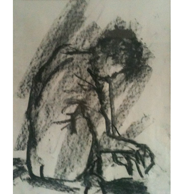 Thumbnail image of 'A' seated, 1984 by Steve Wenham