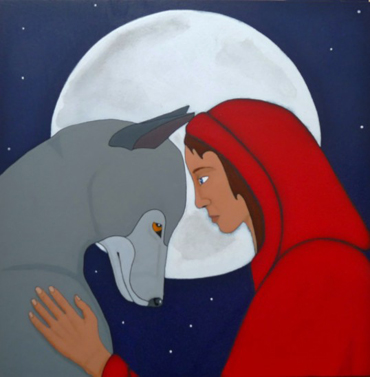 Thumbnail image of Red Riding Hood and her Wolf by Stuart Hill