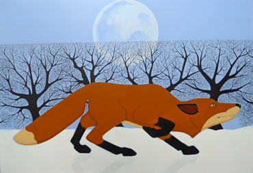 Winter Fox by Stuart Hill