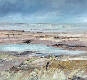 Holme, Ebbing Tide, Winter by Sue Graham