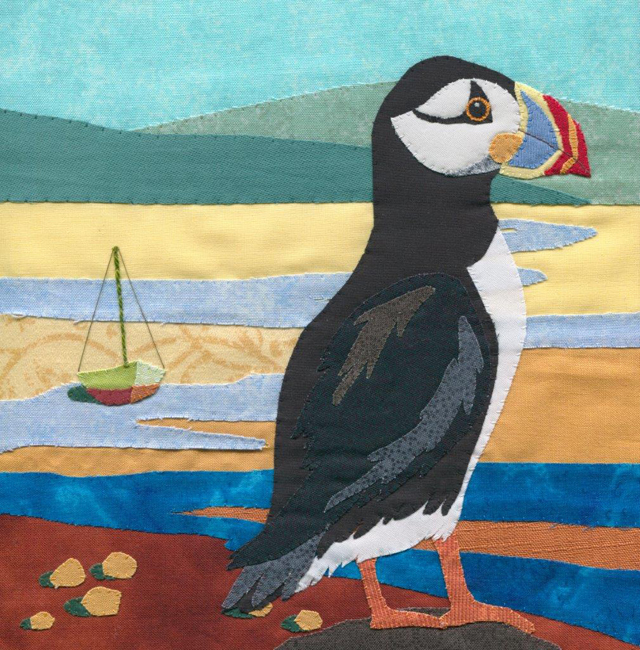 Puffin and Boat by Victoria Whitlam