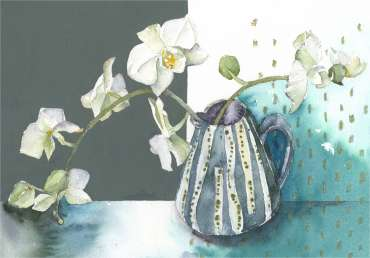 Moth Orchid Stem by Vivienne Cawson