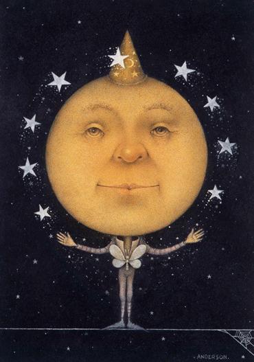 Juggling Full Moon by Wayne Anderson