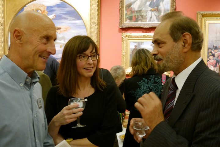 Trevor Bent, Jane French, Cllr Piara Singh Clair at the preview
