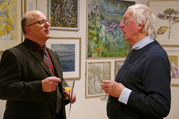 Thumbnail image of Senior Curator Simon Lake and LSA Past President Bryan Organ - Preview Evening: LSA Annual Exhibition 2015