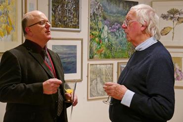 Thumbnail image of Senior Curator Simon Lake and LSA Past President Bryan Organ - Preview Evening: LSA Annual Exhibition 2015