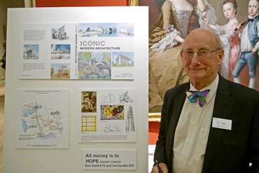 Thumbnail image of LSA Past President Douglas Smith launches his new book at the preview - Preview Evening: LSA Annual Exhibition 2015