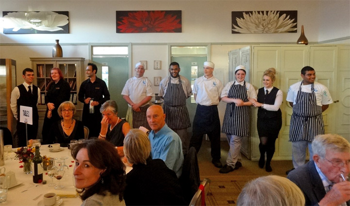 Thumbnail image of Our chefs and staff at Taste Restaurant take a bow - Douglas Smith Commemorative Dinner