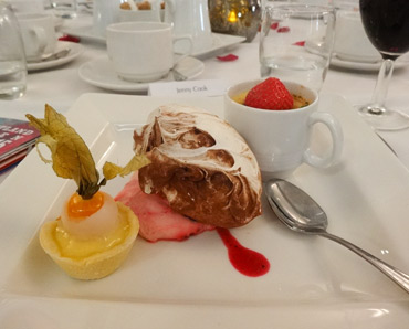Thumbnail image of Dessert at Taste Restaurant Leicester - Douglas Smith Commemorative Dinner