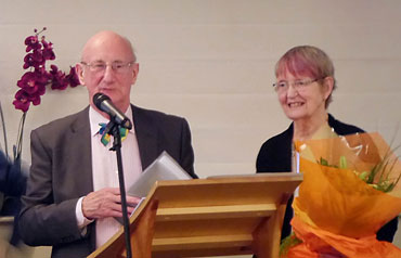 Photo of Douglas and Shirley Smith at the dinner