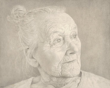 Silverpoint drawing by Dylan Waldron