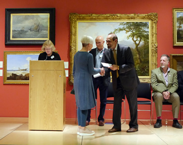 Thumbnail image of From Left: Sarah Levitt, Catherine Headley, Trevor Bent, Cllr Piara Singh Clair, Jeremy Webster - Preview Evening: LSA Annual Exhibition 2016