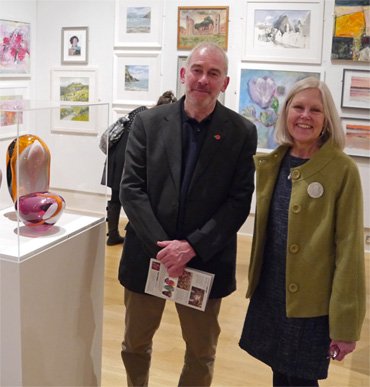 Thumbnail image of Marck and Gillian Geary, West End Gallery, sponsors of LSA Student Award 2016 - Preview Evening: LSA Annual Exhibition 2016