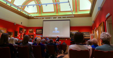 Thumbnail image of View of the talk in Gallery 6, - A Conversation With Bryan Organ - Photographs Of The Evening