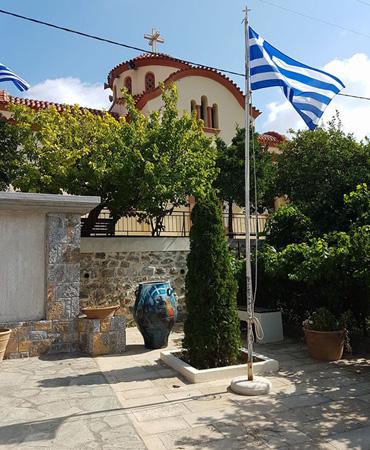 Thumbnail image of Potamies, Crete - Art Abroad - George Sfougaras Paints In Potamies