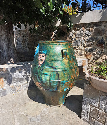 Thumbnail image of The second painted urn by George Sfougaras - Art Abroad - George Sfougaras Paints In Potamies