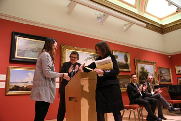 Thumbnail image of Yuanqing Zhang (Leicester High School for Girls) receives the Student Painting Prize - Little Selves - Preview Photographs