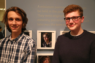 Thumbnail image of Robert Spicer (right) beside his prizewinning photograph, 'Guy' - Little Selves - Preview Photographs