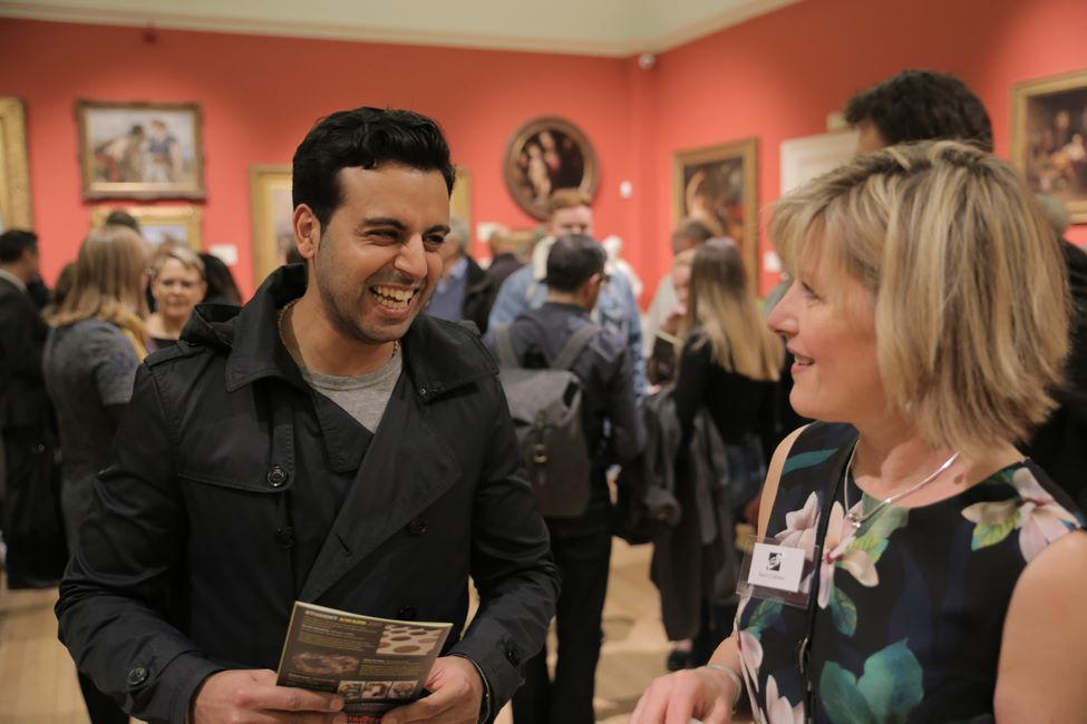 Thumbnail image of Vishal Joshi with Hazel Crabtree - LSA Annual Exhibition 2017 Preview Evening
