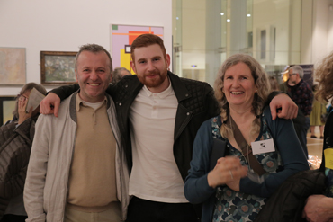 Thumbnail image of LSA member Maria Boyd and family at LSA Annual Exhibition 2017 preview - LSA Annual Exhibition 2017 Preview Evening
