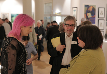 Thumbnail image of Lydia Towsey, Dave Pigeon at preview of LSA Annual Exhibition 2017 - LSA Annual Exhibition 2017 Preview Evening