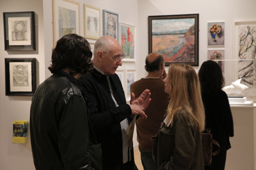 Thumbnail image of Geoffrey Beasley, Maria Collingham at the preview of LSA Annual Exhibition 2017 - Preview Evening: LSA Annual Exhibition 2017