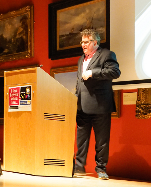 Lars Tharp giving 'From the Edge' lecture