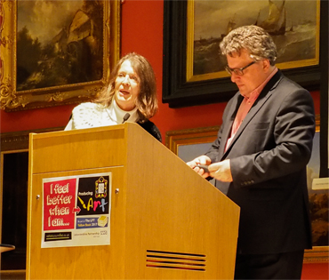 Thumbnail image of LSA Chair Suzanne Harry with LSA President Lars Tharp - Lars Tharp LSA Lecture 2017