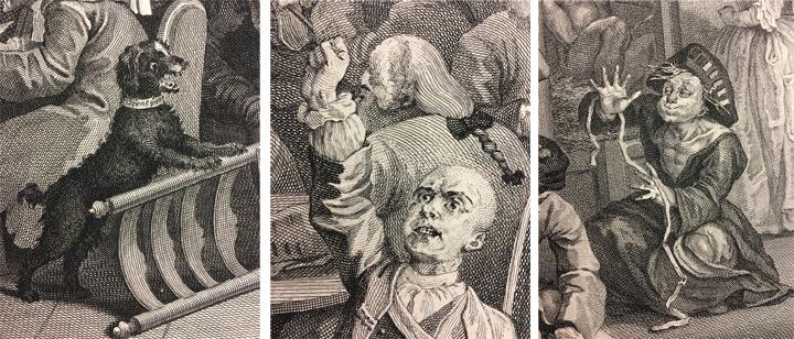 Hogath etching - Rake's Progress