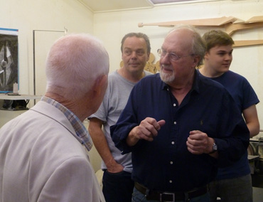 Thumbnail image of John Sydney Carter explaining his work - We Explore The Studio Of John Sydney Carter