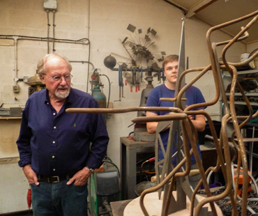 Thumbnail image of John Sydney Carter in his workshop - We Explore The Studio Of John Sydney Carter