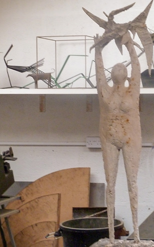 Thumbnail image of John Sydney Carter - maquette in his studio - We Explore The Studio Of John Sydney Carter