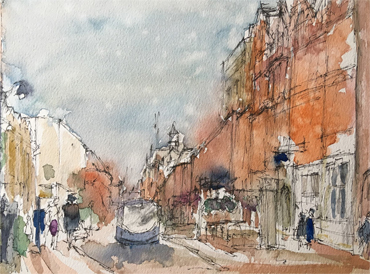 Thumbnail image of Mick Sadler - Let's Draw The Cultural Quarter - Leicester's 2nd Urban Sketching Success