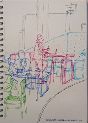 Thumbnail image of Stef Lee - Let's Draw The Cultural Quarter - Leicester's 2nd Urban Sketching Success