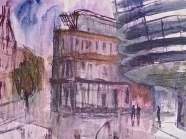 Thumbnail image of Tony O'Dwyer - Let's Draw The Cultural Quarter - Leicester's 2nd Urban Sketching Success