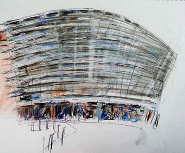 Thumbnail image of Milan Popowich - Over 30 Urban Sketchers In Leicester's First Sketchcrawl