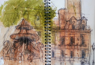 Thumbnail image of Tony O'Dwyer - Over 30 Urban Sketchers In Leicester's First Sketchcrawl