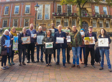Thumbnail image of The Urban Sketchers Leicester at the first Leicester sketchcrawl on 30 September 2017 - Over 30 Urban Sketchers In Leicester's First Sketchcrawl