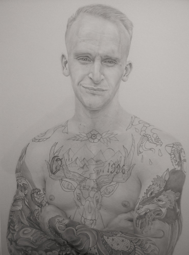 Pencil drawing of Conrad by Bradley Phelps