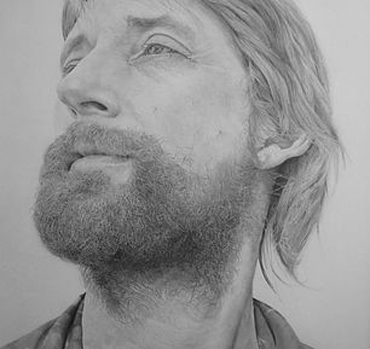 Pencil drawing of Dave by Bradley Phelps